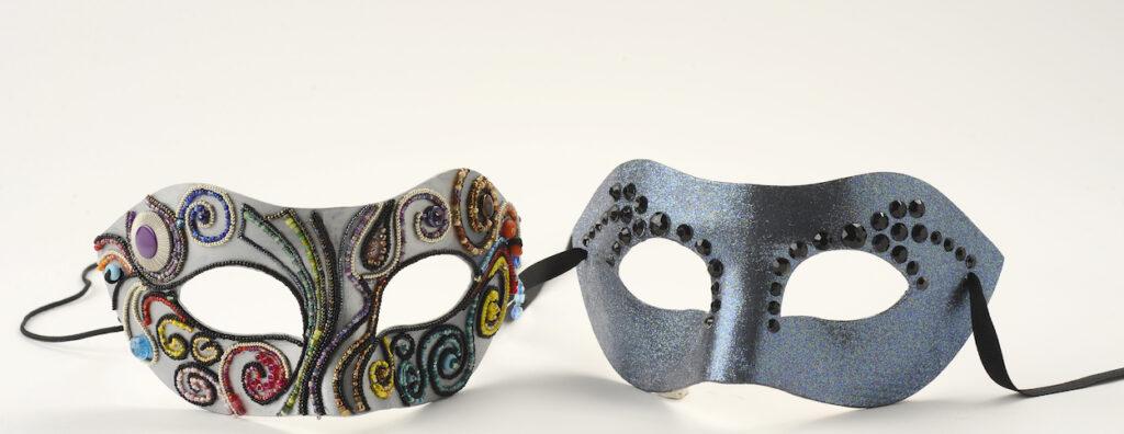 Two gala masks